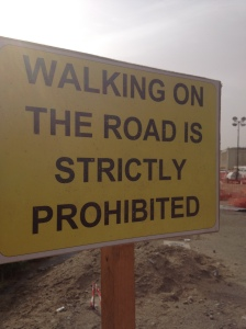 no walking