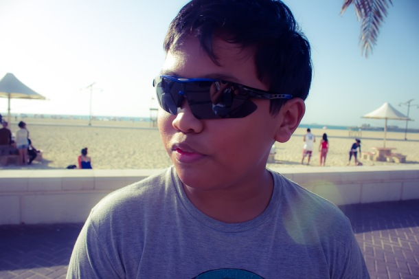 Patrick at the beach