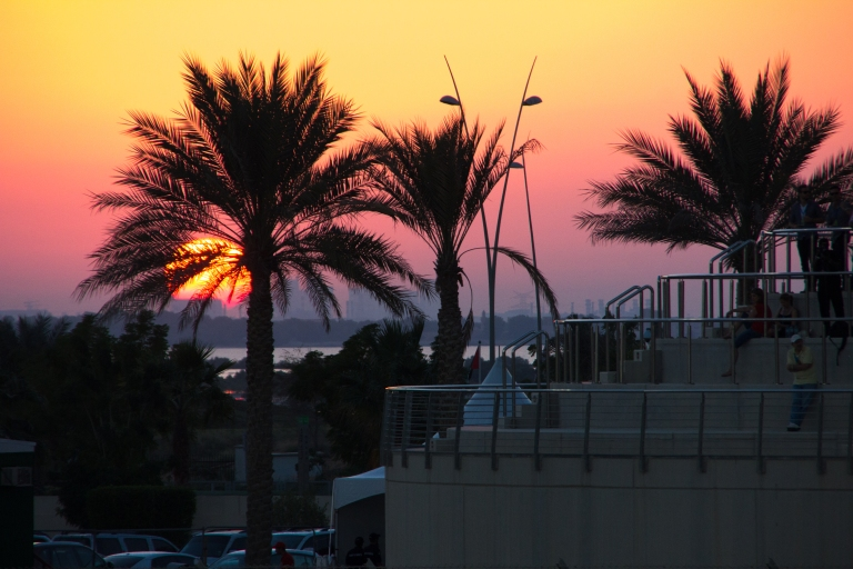 sunset at yas