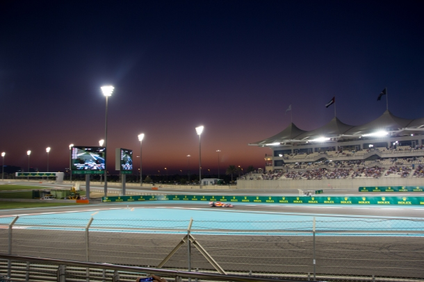 qualifying at dusk