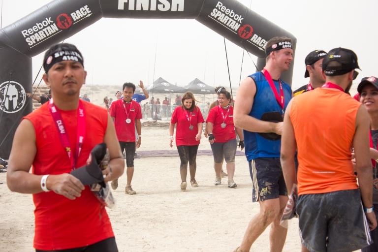 walk thru the finish line