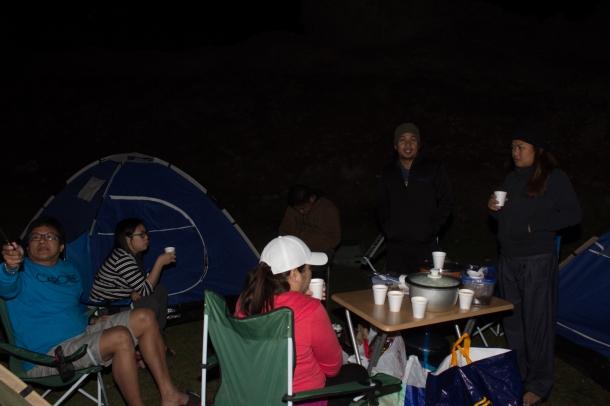 camp at night